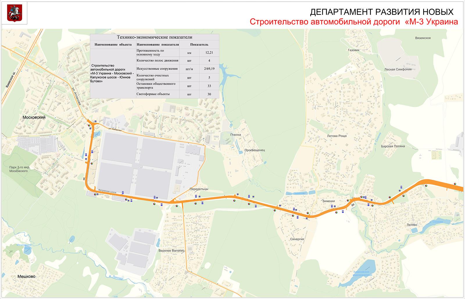 дорога южное бутово киевское шоссе